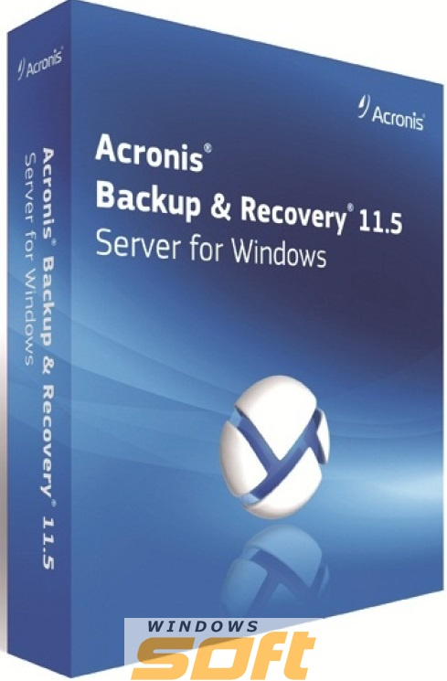 ������ Acronis Backup & Recovery Server for Windows ����� �������� �� ����������������� ������ TISMLPRUF21 �� ��������� ����