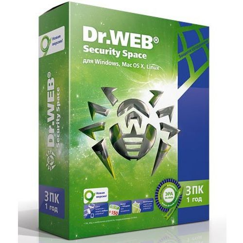 ������  Dr.Web Security Space 3 ��/1 ��� BHW-B-12M-3-A3 �� ��������� ����
