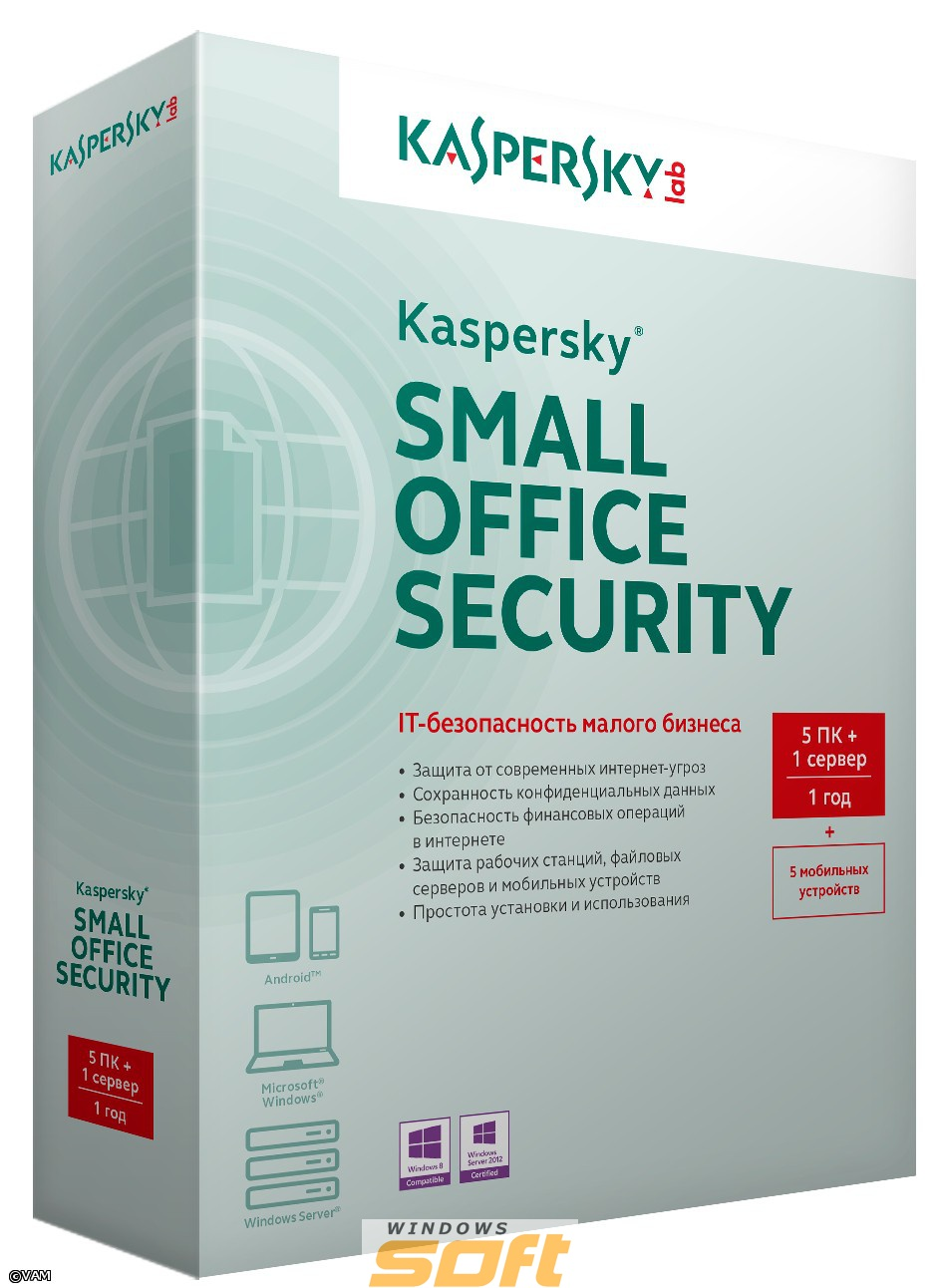 ������ Kaspersky Small Office Security (5-24 �� + 5-24 ��������� ��������� + 1-2 �������) KL4532RA*FS �� ��������� ����