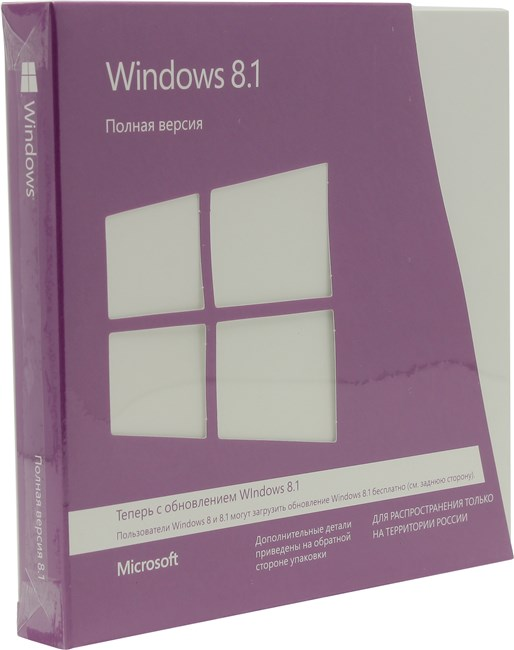 ������ Microsoft Windows 8.1 32-bit/64-bit Russian Only DVD WN7-00937 �� ��������� ����