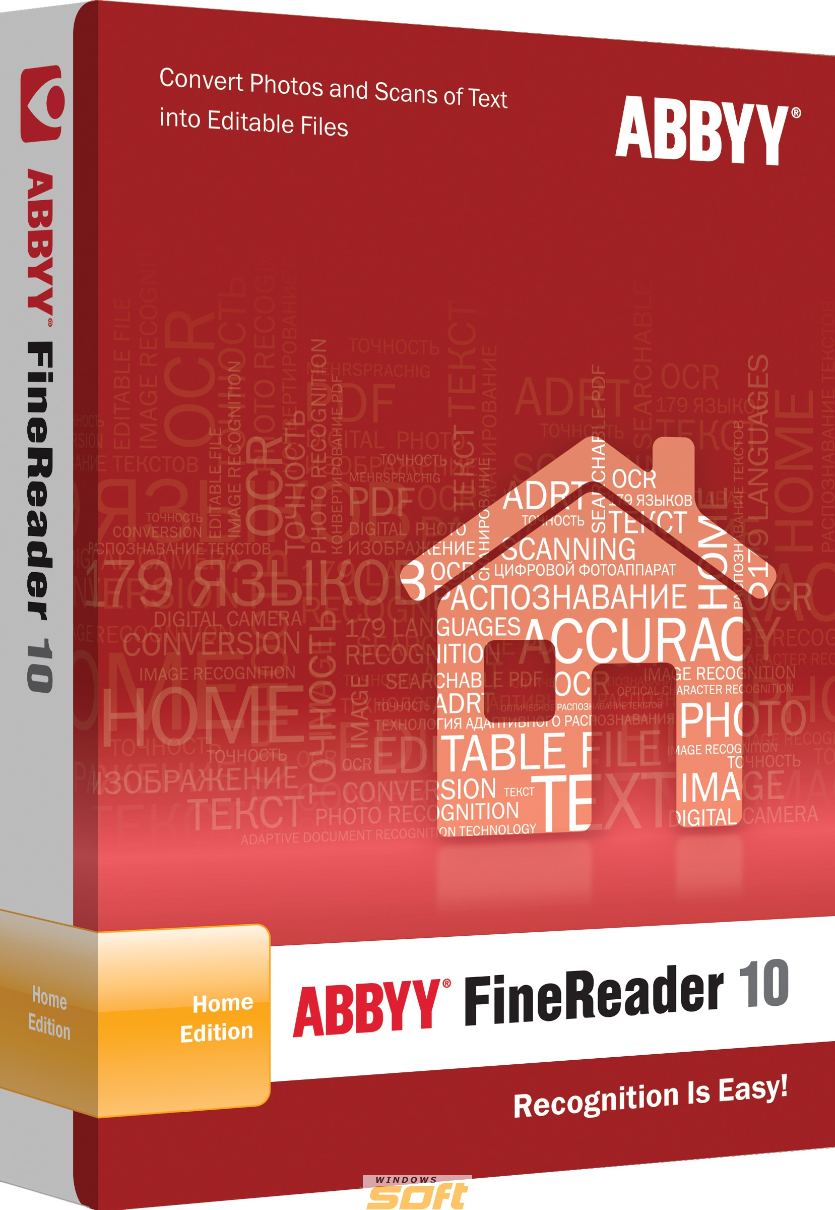 Купить ABBYY FineReader 10 Home Edition Download AF10-8S1P01-102 по доступной цене