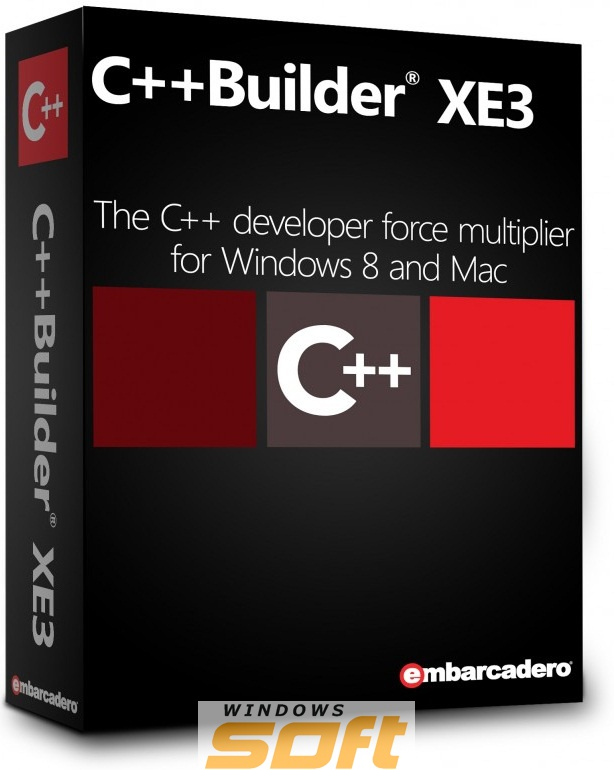 Купить C++Builder XE3 Professional New User (and upgrade from version 2007 or earlier) 5 Named Users CPBX03MLENWD0 по доступной цене
