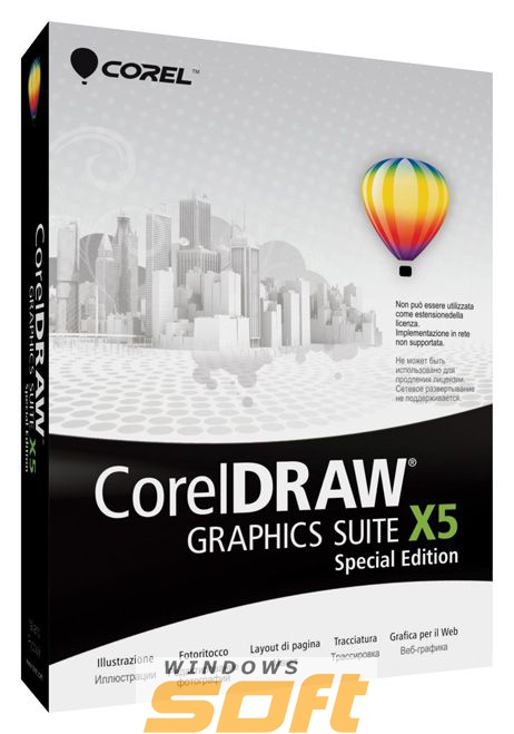 Купить CorelDRAW Graphics Suite X5 Special Edition Mini-Box English CDGSX5SPIEDEEU по доступной цене