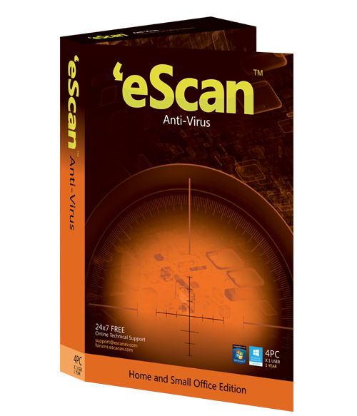 Купить eScan Antivirus (AV) (Home User BOX Version) ES-AV-1-BOX по доступной цене