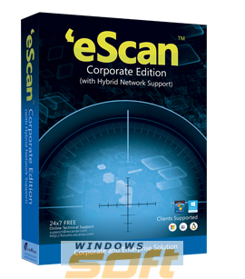Купить eScan Corporate Edition (with Hybrid Network Support) Single User на 1 год ES-CR-1 по доступной цене