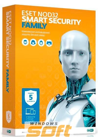 Купить ESET NOD32 Smart Security Family (Box) NOD32-ESM-NS(BOX)-1-5 по доступной цене
