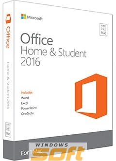 Купить Microsoft Office Mac Home Student 2016 Russian Russia Only Medialess GZA-00585 по доступной цене