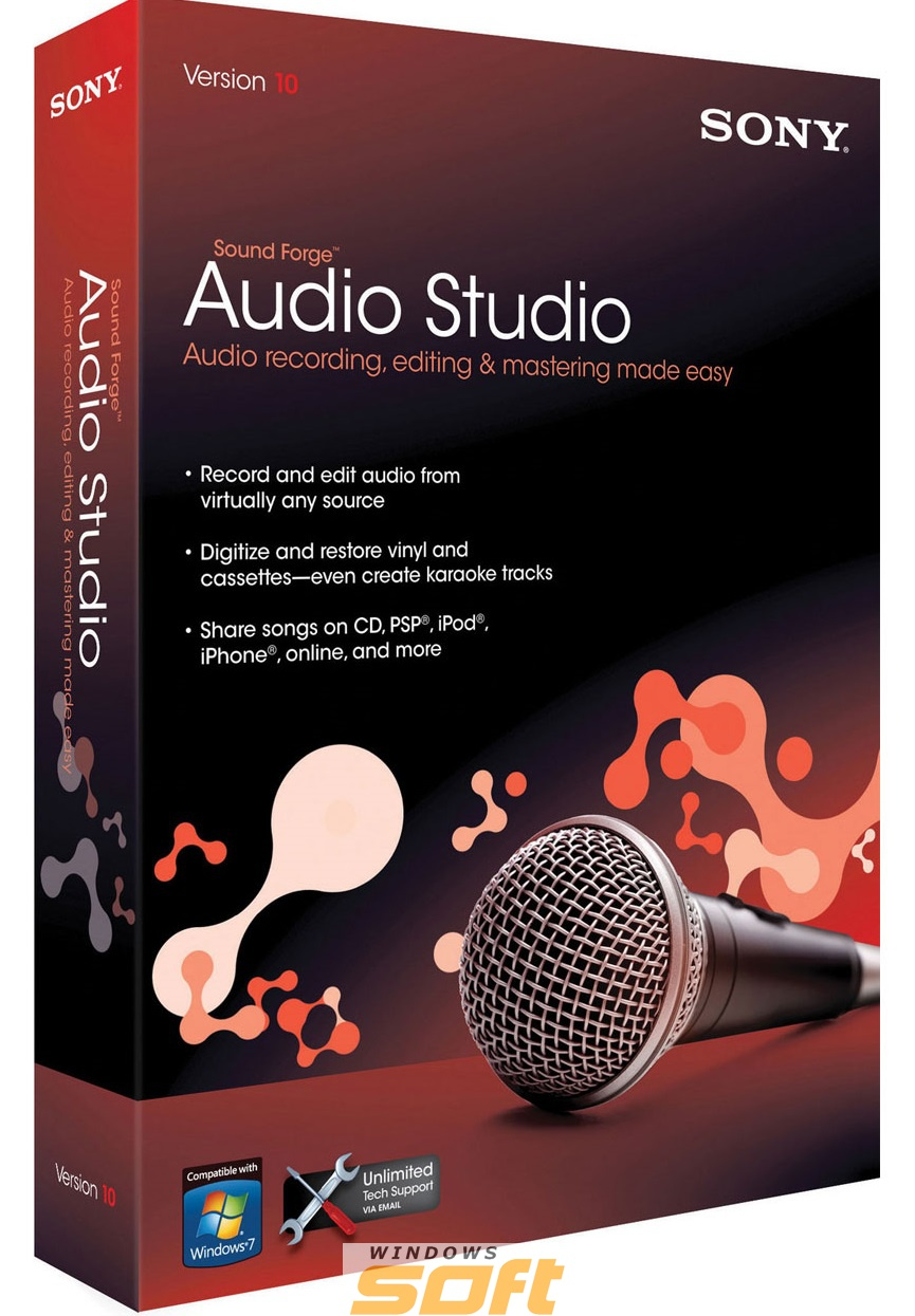 Купить Sony Sound Forge Audio Studio 10 (2014 Release) SFS10099ESD по доступной цене
